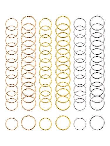 180 Stück Haarringe Zopf Ringe Haarspitzen Haarschleifen Clips, 3 Farben, 2 Größen