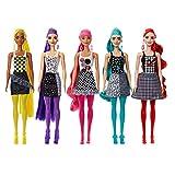 Barbie Fashionista Color Reveal Colores Muñeca para Niñas de 3 Años en Adelante con 4 Accesorios Sorpresa (Mattel Gwc56), Multicolor