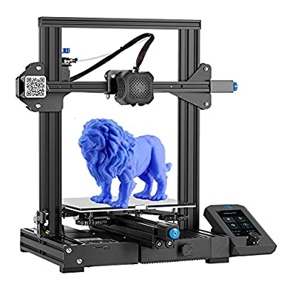 Creality 3D Printer Ender 3 V2 with Silent Mainboard Meanwell Power Supply Carborundum Glass Platform and Resume Printing 220x220x250mm Ideal for Beginners