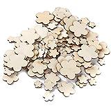 Weisin - Fondo de Madera para decoración de Pared con diseño de Flores y Chips, para decoración de Bodas, Fiestas, Recuerdos, Manualidades, cumpleaños
