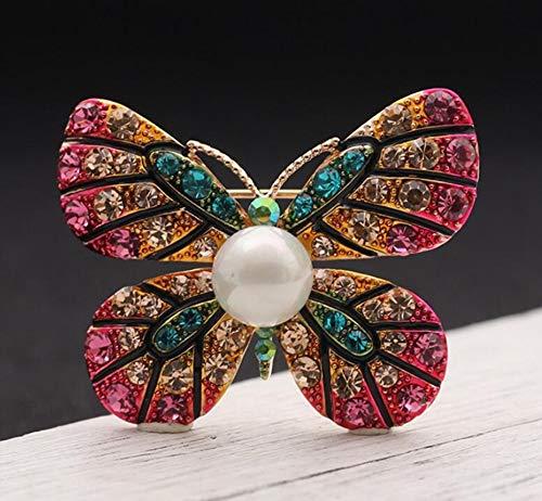 Sxuefang Brosche Retro-Parkett Farbe tropft Öl gemalte Schmetterling Brosche einfache Brosche Pin Frau