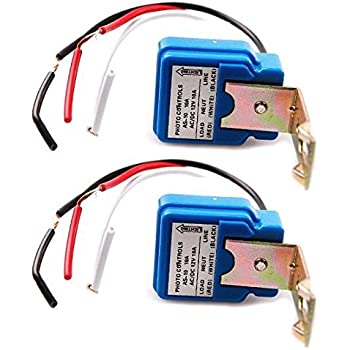 2 Pack Ac Dc 12v 10a Auto On Off Photocell Light Switch Photoswitch Light Sensor Switch Amazon Com
