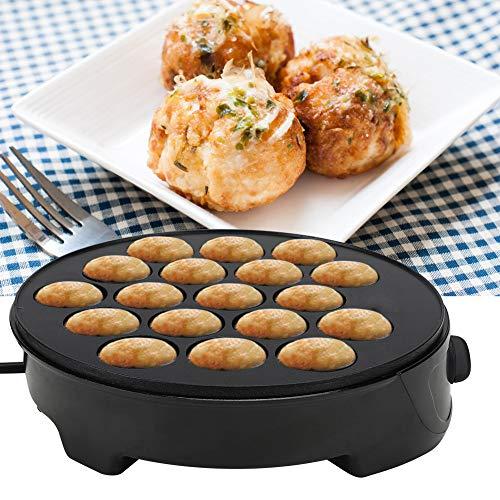 【𝐏𝐫𝐨𝐦𝐨𝐜𝐢ó𝐧 𝐝𝐞 𝐒𝐞𝐦𝐚𝐧𝐚 𝐒𝐚𝐧𝐭𝐚】 Takoyaki máquina de desayuno eléctrica, pulpo antiadherente pulpo máquina de desayuno, mini máquina de desayuno para el hogar 220-240 V negro (regulaci