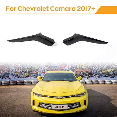 JeCar Door Side Rear View Mirror Pedal Cover Rearview Base Mirror Trim for Chevrolet Camaro 2017-2020, Carbon Fiber