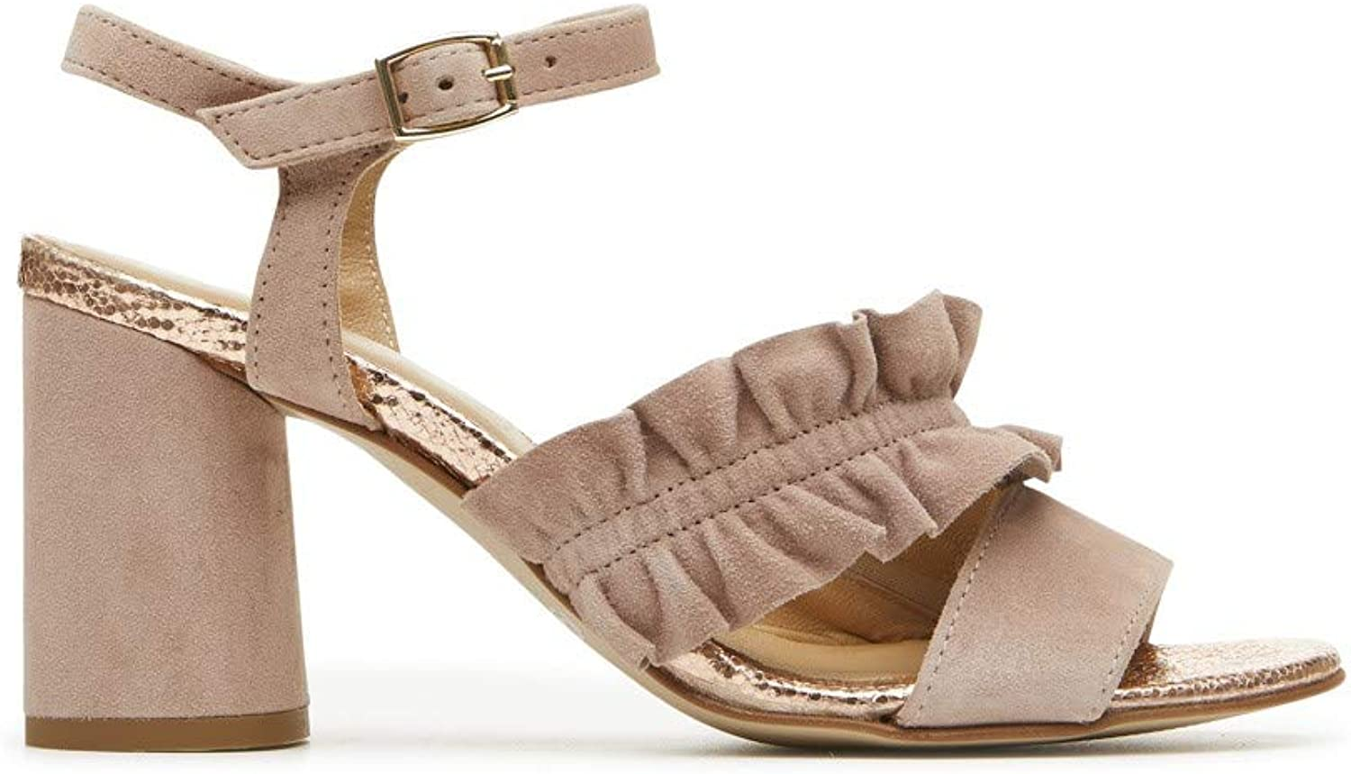 IGI & CO 3187655 Women's Sandals in Antique Pink Leather with Made in  Heel