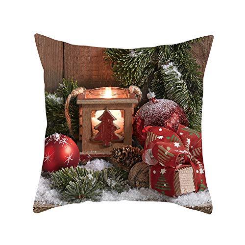 Weihnachtsgeschenk Kissenbezug, Vovotrade Weihnachten Deko Merry Christmas weich Quadrat 45 x 45cm Dekokissen kissenhülle Home Decor Büro Mall Fenster Familie Weihnachtsdekoration
