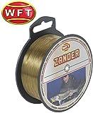 WFT Zielfisch Zander 0,25mm 5,8kg 500m braun - monofile Angelschnur zum Zanderangeln, Monofilschnur für Zander, Monoschnur