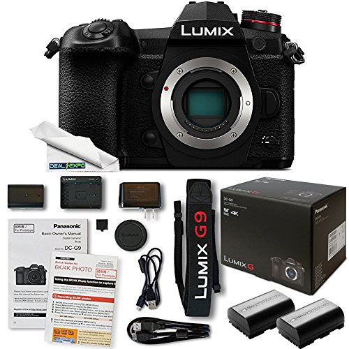 Panasonic Lumix DC-G9 Mirrorless Micro Four Thirds Digital Camera (Body Only) + Deal-Expo Accessories Bundle