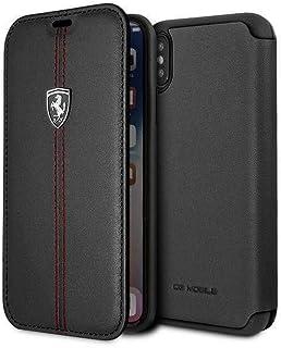 Ferrari Heritage Book Type Case for iPhone Xs Max - Black, 2724689144951
