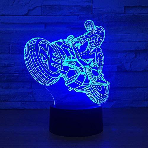 3D Spiderman Ironman creatieve Cartoon LED nachtlampje decoratie tafellamp nachtlampje 5V USB of 3AA batterij opladen nachtlampen A-1701