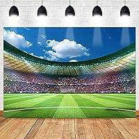 ZPCサッカースーパーボウルの背景競争遊び場写真の背景サッカーフィールドスポーツボールゲームクラブスタジアムの写真7x5ft HXMT655