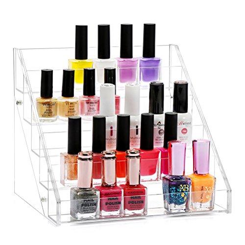 Nagellack Display Ständer Acryl Nagellackständer Aufbewahrung von ca. 30 Nagellackflaschen Aufbewahrungsbox Regal Halter Organizer Box