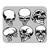 N\A Mousepad Computadora Bloc de Notas Office Skull Set Inicio Escuela Juego Jugador Computadora Trabajador Pulgada