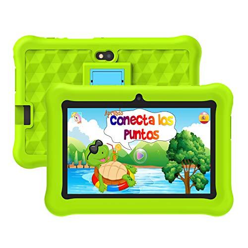 Tablet para Niños con WiFi 7 Pulgadas Android 10 Certificación Google Tableta Infantil 2GB RAM + 32GB ROM y Juegos Educativos