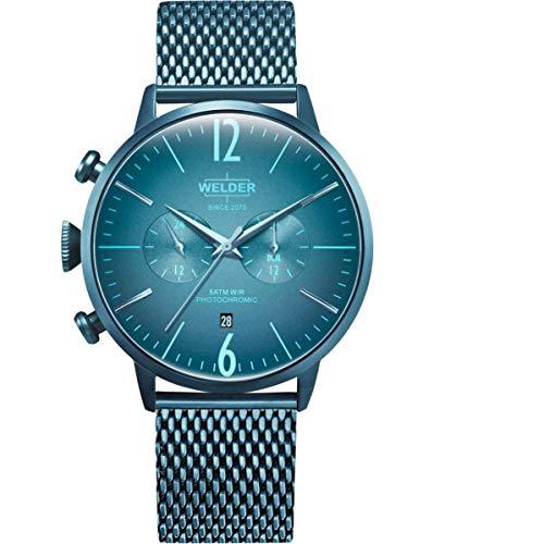 Welder Men's Breezy 45mm Blue Steel Bracelet & Case Quartz Watch WWRC416