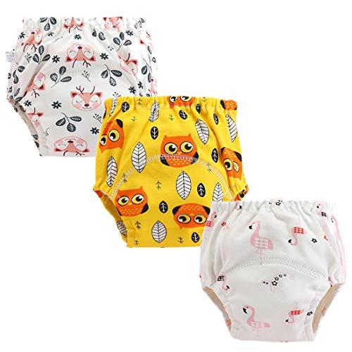 ElecMotive Set di 3 Mutandine di Apprendimento Training Pantaloni Vasino Intimo Lavabili Riutilizzabile per Bambini Piccoli
