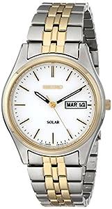 Seiko Men's SNE032 Two-Tone Stainless Steel Solar Watch by Seiko