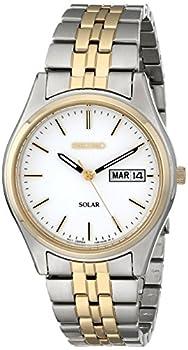 Seiko Men s SNE032 Two-Tone Stainless Steel Solar Watch
