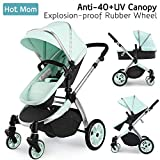 Multi cochecito 2 en 1 Carrito Bebe Hot Mom silla de paseo el capazo se...
