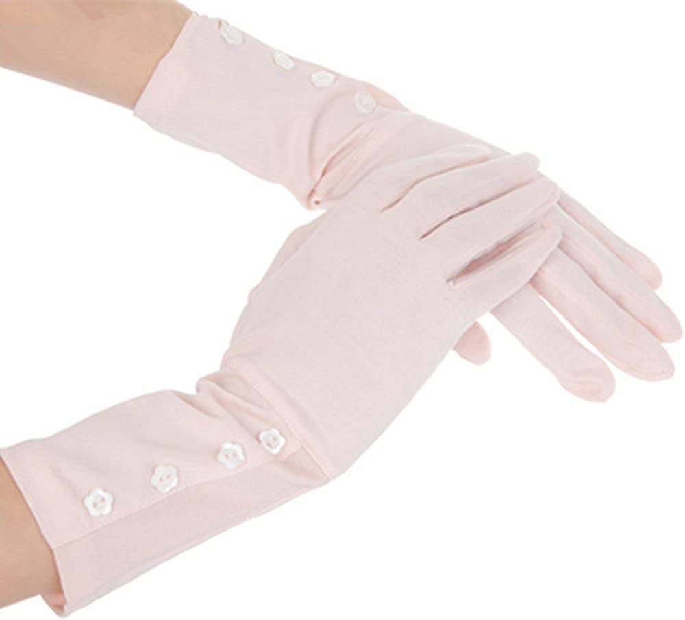Women Sunblock Gloves UV Protection Cotton Long Gloves Outdoor Driving Gloves