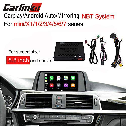 Carlinkit Carplay dongle Android Auto Mirroring Smart Box Media Receiver for BMW 1 2/3/5/7/mini/X1/X3/X4/X5/X6 NBT System Factory Screen Upgrade 8.8 and 10.25 inch