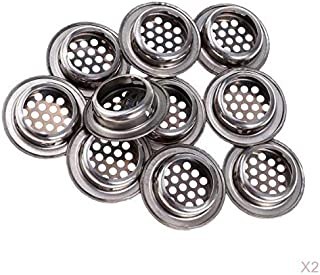 Fenteer 20 Piezas Cubierta De Malla Redonda Agujero Gabinete De Cocina Aparador Ventilación Rejilla -25mm