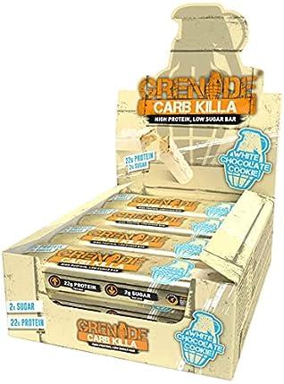 Grenade - Galleta blanca del chocolate de la barra de la proteína de Carb Killa - 12 Bares