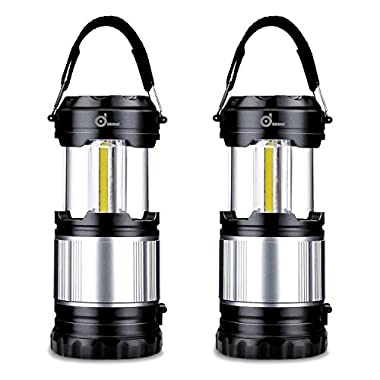 Odoland COB LED Lantern, 2-In-1 300 Lumen LED Camping Lantern Handheld Flashlights, Camping Gear Equipment for Outdoor Hiking, Camping Supplies, Emergencies, Hurricanes, Outages