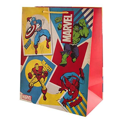 Hallmark - Bolsa de regalo para cualquier ocasión, diseño de superhéroe, tamaño grande (cumpleaños, Navidad, examen, día del padre)