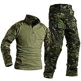 SR-Keistog Fuerzas Especiales Soldado Tácticas Airsoft Militaire Camuflaje Táctico Uniforme Militar Camisa de Combate Pantalones Green CP XXL