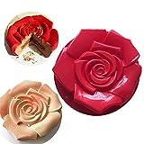 FantasyDay® Stampo in Silicone per Tortiera a Forma di Rosa, 30 x 5 cm Muffa Sapone Handmade Stampi per Biscotti, Tortini, Cioccolato, Torte, Dolci, Muffin, Pudding - Antiaderente & Termoresistente