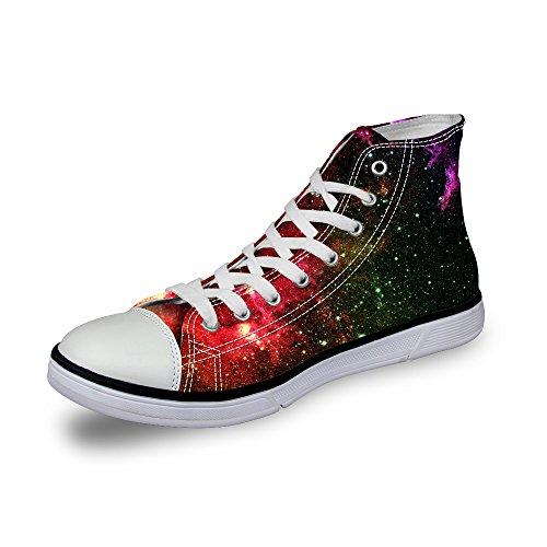 Zapatillas de Deporte para Hombre, Zapatillas de Correr, Ligeras, para Correr, Multicolor, diseño de Estrellas, Zapatillas Deportivas de Lona para Pintar, Patrones con Cordones