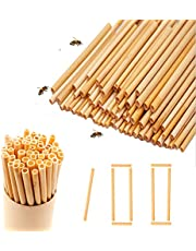 Wegwerprietjes van bamboe en plantaardige vezels, biologisch afbreekbare rietjes, super alternatief voor plastic rietjes, 50 stuks