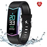 FitOkay Fitness Tracker, Waterproof Activity Tracker Smart Watch with Blood Pressure Heart Rate Monitor, Smart Wristband with Sleep/Step/Calorie Pedometer, Smart Bracelet for Women Kids Men