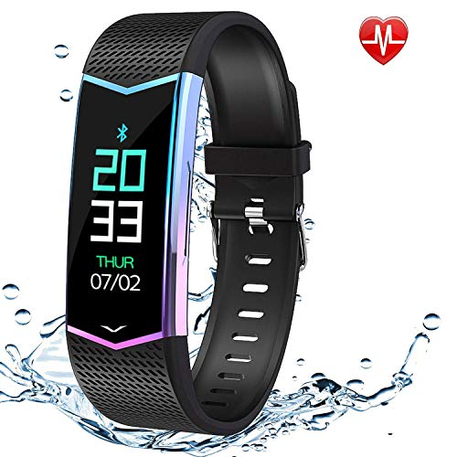 Sport Bracelet 2020 Version for Men Women Fitness Tracker Heart Rate, Asleep, and Blood Pressure Monitor, Calorie display,IP67 Waterproof, Sport Bracelet Compatible with iproduct and Android Phones.