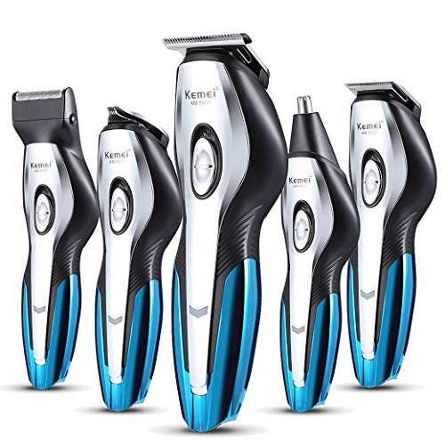 Dubobao Multifunctionele haarclips, 6 in 1, Action baard voor mannen, precisietrimmer voor sideburn, haar, neus, oor, lichaam, USB, draadloos, oplaadbaar, waterdicht
