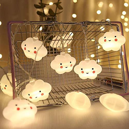 Toruiwa LED Lichterketten,Wolken Lichterkette,20 LEDs Warmweiß 3,5M,für Kinderzimmer/Party/Hochzeit/Weihnachten Dekoration-Batteriebetrieben