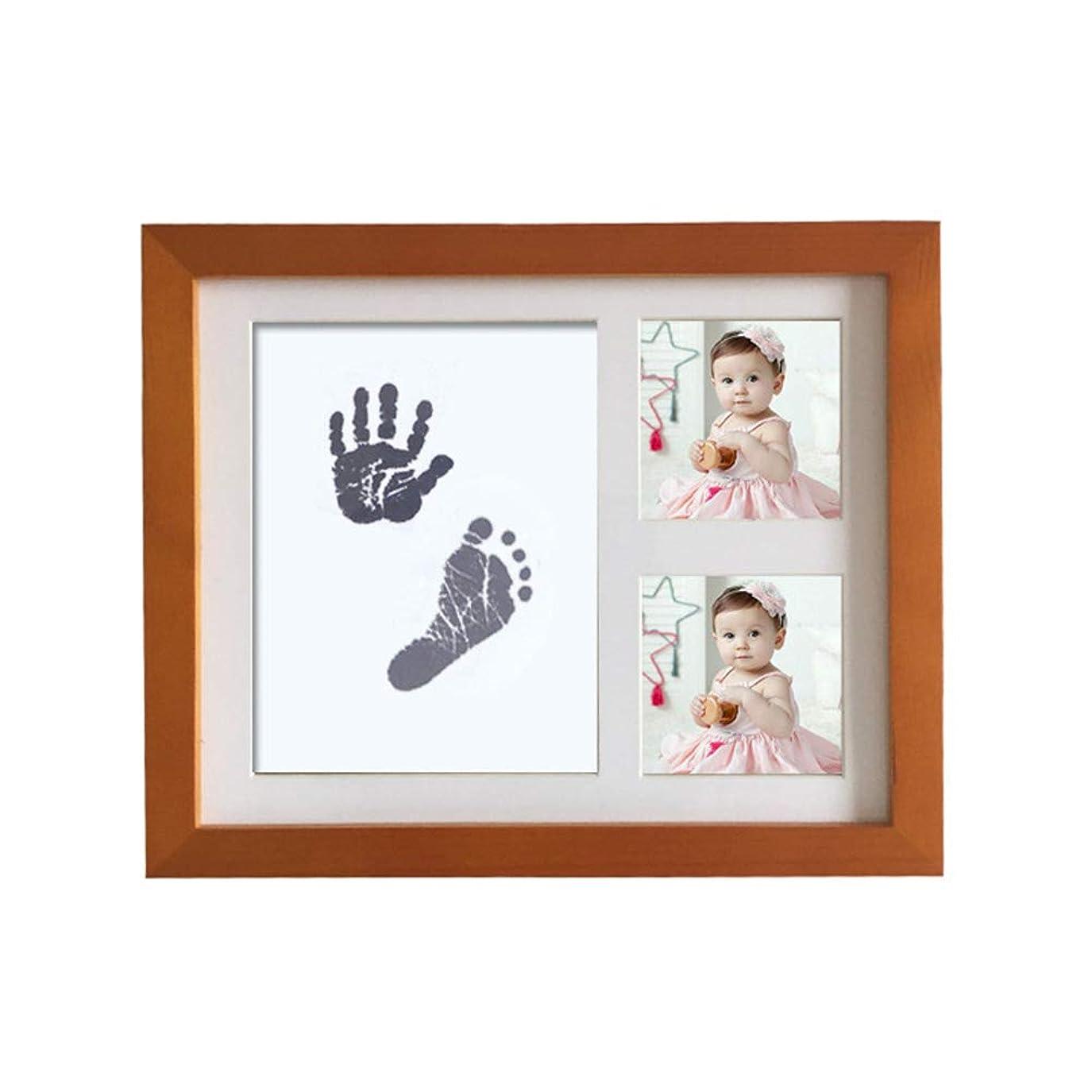 ビデオ逆説ワークショップベビーフレーム 手形 足形 足跡フレーム フォトフレーム 写真立て 赤ちゃん 無毒で安全 出産祝い 内祝い 贈り物 ベビー記念品