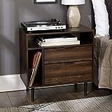 Walker Edison Lincoln Modern Storage Nightstand, 25 Inch, Walnut