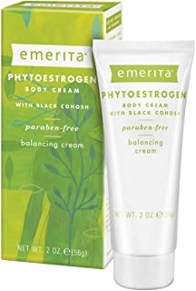 Emerita Phytoestrogen Body Cream | For Optimal Balance at Midlife | Black Cohosh, Ginseng and Red Clover | No Parabens & V...