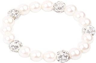 RUNXINTD Baby Girl Gift Children Jewelry Freshwater Pearl Bracelet for 2-11Years Baby Girl Christening Bracelet
