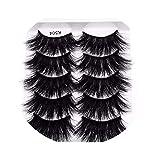 5 Pairs 3D Mink Hair False Eyelashes Criss-Cross Wispy Cross Fluffy 22Mm-25Mm Lashes Extension Handmade Eye Makeup Tools,504
