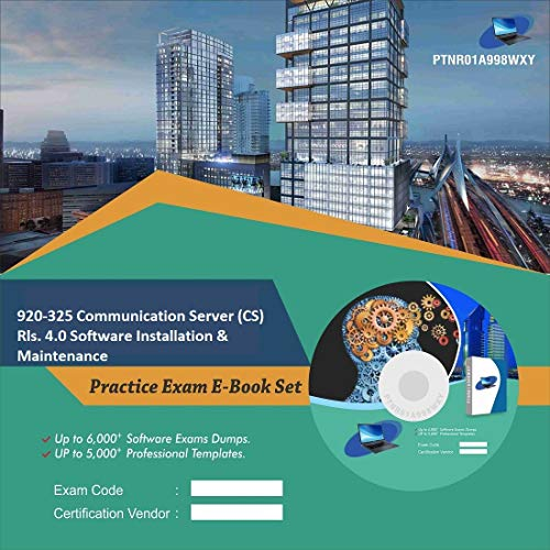 920-325 Communication Server (CS) Rls. 4.0 Software Installation & Maintenance Complete Video Learning Certification Exam Set (DVD)