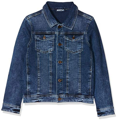 Name IT NOS Jungen Jacke NKMTYRION DNM Jacket 2196 NOOS, Blau (Medium Blue Denim), (Herstellergröße: 110)