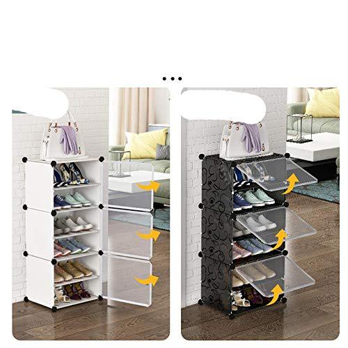 r Zapatos que ahorran espacio en el calzado Botas O Armario Bricolaje Montado Mole Zapatero Mueble Moderno-Blanco