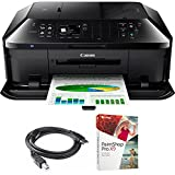 Canon PIXMA MX922 Wireless Inkjet Office All-in-One Printer (6992B002) Bundle with High Speed 6-Foot USB Printer Cable and Corel Paintshop Pro 2018 (Digital Download)
