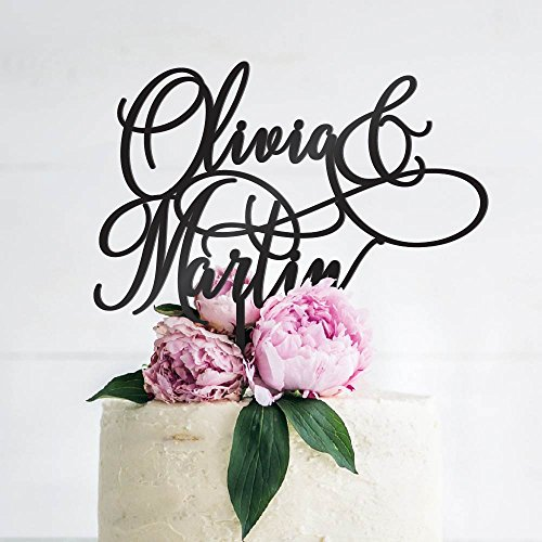 Personalized Wedding Cake Toppers, Custom Cake Topper Wedding Cake Decoration - Mr and Mrs Cake Toppers for Bride and Groom |Wedding Favors - B3
