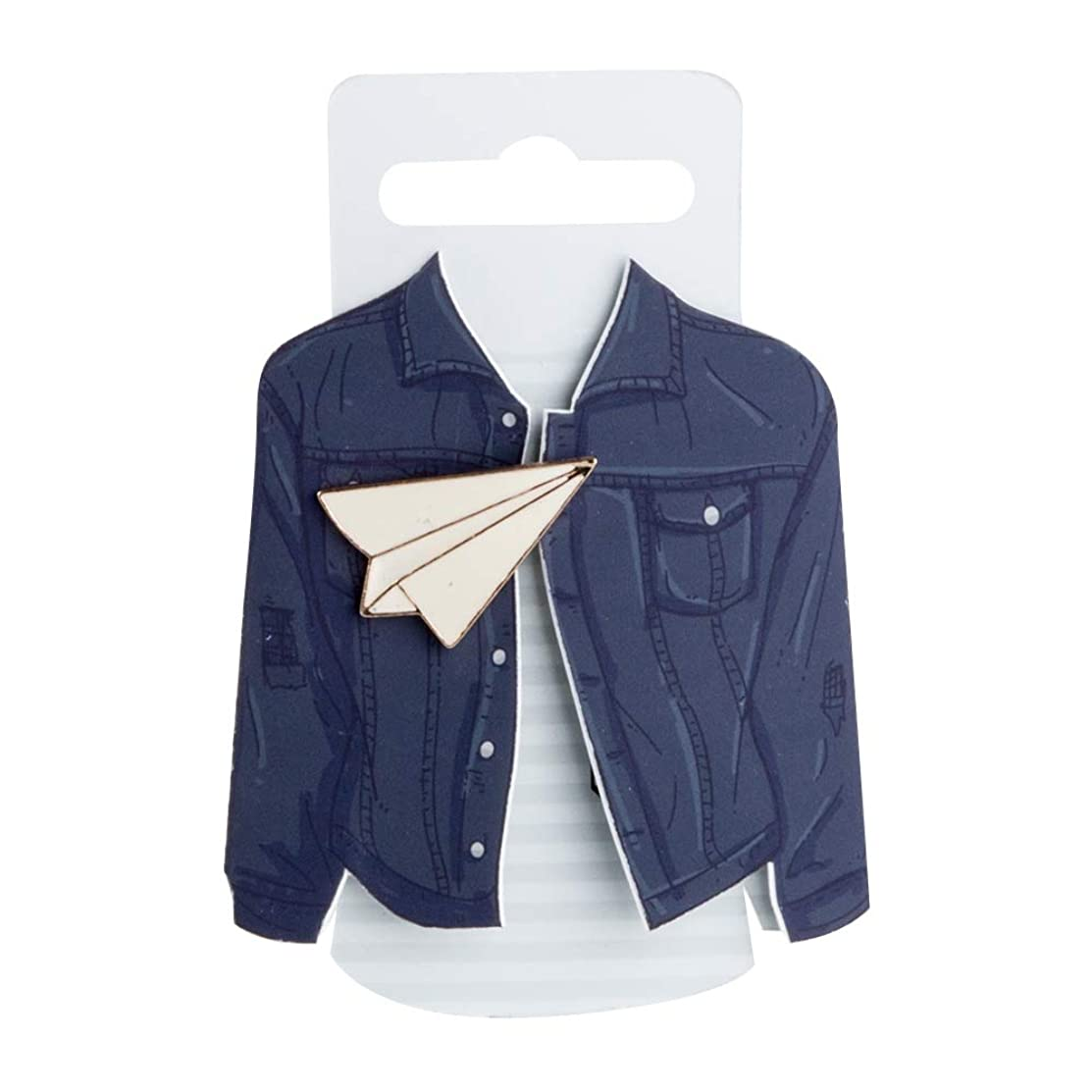 Good Design Works Enamel Pin-Paper Plane, White
