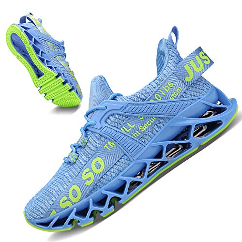 Damen Road Running Sneakers Fashion Sport Workout Gym Jogging Wanderschuhe,B Light Blue,39