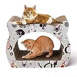 Nobleza - Rascador para Gatos de cartón. Soporte de Descanso con Forma de Gato con Catnip.
